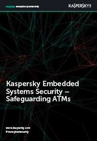Kaspersky Embedded Systems Security: beveiliging van pinautomaten
