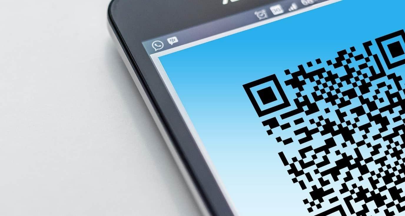 QR-code op mobiel