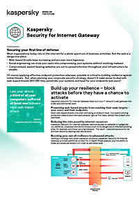 Kaspersky Security for Internet Gateway - Datasheet