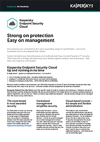 Datasheet Kaspersky Endpoint Security | Cloud